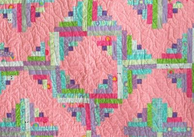 Log Cabin Pink detail