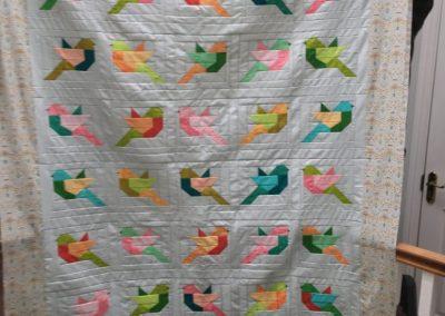 Nicola Branigan - Birds - Quilted by Tomomi