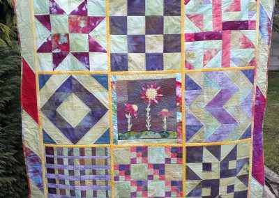 Lorna Lafferty - Sampler QAYG with Hand Dyed Fabrics