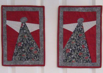 No 07 - Christmas Angels Mini Wall Hangings