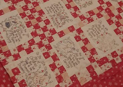 No 20 - 12 Days of Christmas Patchwork and Embroidery
