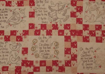 No 20 - 12 Days of Christmas Patchwork and Embroidery detail 2