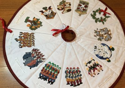 1st Place - Wendy Huggins No 27 - Christmas Tree Skirt