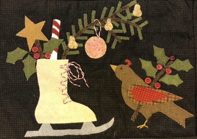 2nd Place - Jo Whitmore No 17 - Christmas Wall Hanging