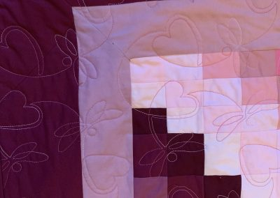 Jane Collins - Jelly Roll Quilt detail quilted by Roisin McManus QYS