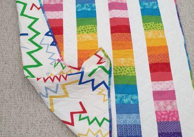 Bernie Weir - Rainbow Quilt (back)
