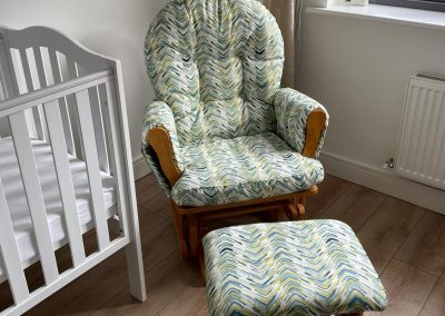 Margaret Keating - Upholstered Baby Chair and Stool