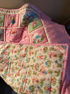 Pauline Waddell - Baby Quilt back